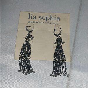 Lia Sophia dangle beaded earrings